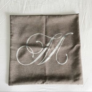 """Other - M monogram pillow cover 18"""""""